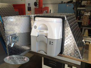 metal fabrication toilet box