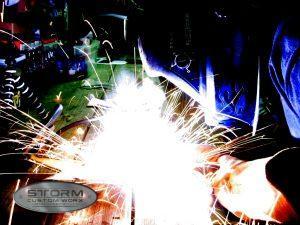 welding sparks metal fabrication